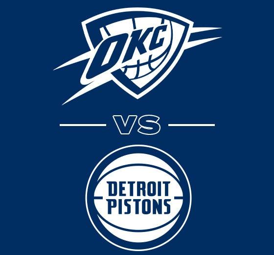 More Info for OKC Thunder vs. Detroit Pistons