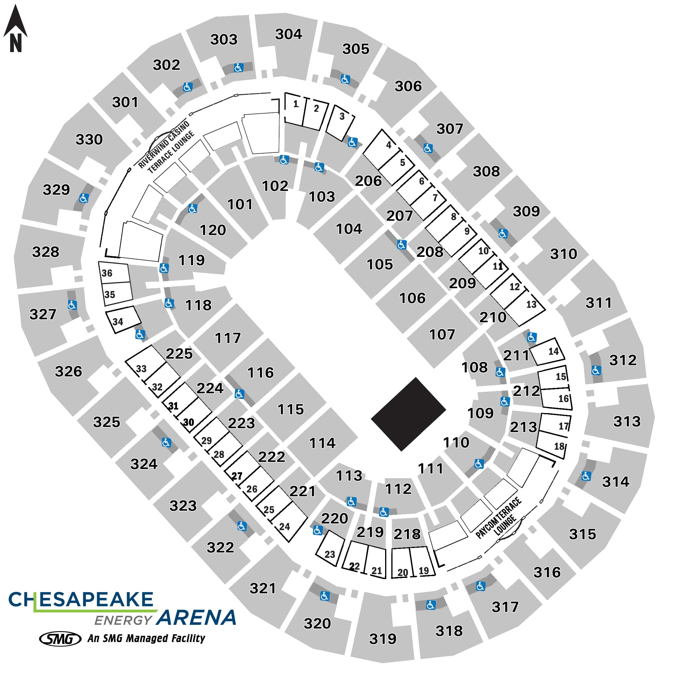 Seating Charts Chesapeake Energy Arena
