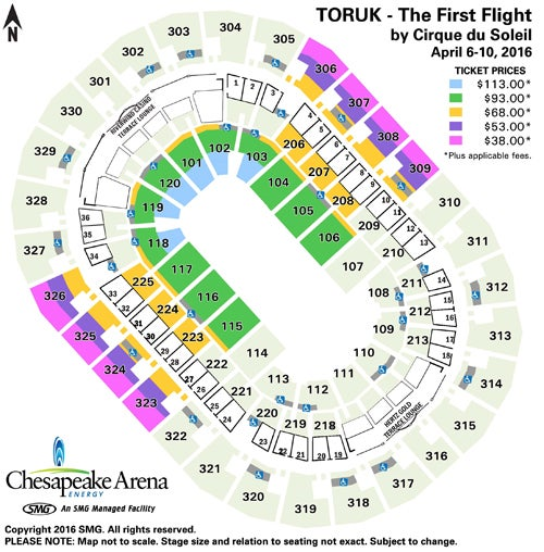 chesapeake energy arena seating map with Cirque Du Soleil Toruk First Flight Oklahoma City 2016 Tickets on Infinite Energy Center Seating Chart With Seat Numbers further Overview together with Moda Center Map further Seasontickets additionally BmF0aW9ud2lkZS1hcmVuYS1zZWF0aW5nLWNoYXJ0LXJvd3M.