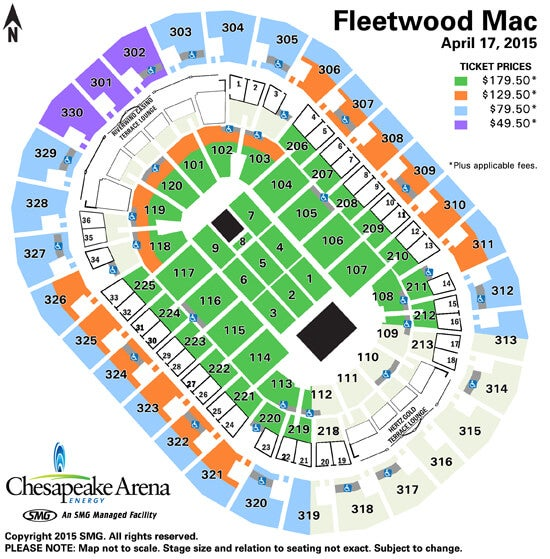 Fleetwood Mac   Chesapeake Energy Arena on